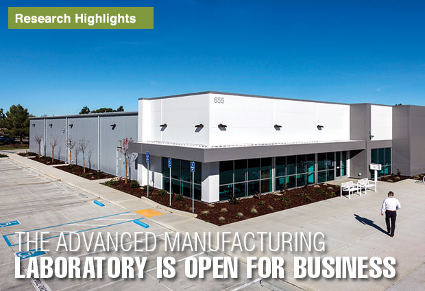 Advanced Manufacturing Laboratory building exterior.