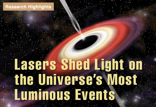 Article title: Lasers Shed Light on the Universe's Most Luminous Events