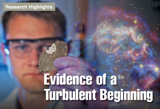Article title: Evidence of a Turbulent Beginning