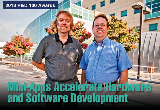 Article title: Mini-Apps Accelerate Hardware and Software Development; photo of Livermore's Mantevo Suite 1.0 development team.