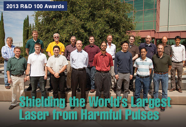Article title: Shielding the World's Largest Laser from Harmful Pulses; photo of Laser SHIELD's development team.