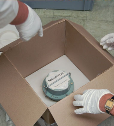 In 2015, the All-Russian Scientific Research Institute of Experimental Physics shipped highly purified plutonium-244 (shown here) to Lawrence Livermore, where it was further purified, analyzed, and dispensed into aliquots. The plutonium was finally made into a high-purity certified reference material for use in analyses of environmental samples from the International Atomic Energy Agency.