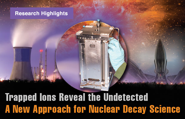 Article title: Trapped Ions Reveal the Undetected: A New Approach for Nuclear Decay Science.