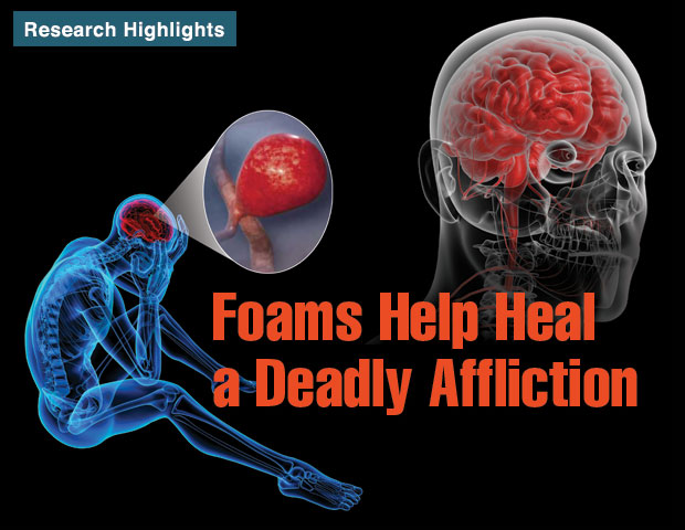 Article title: Foams Help Heal a Deadly Affliction