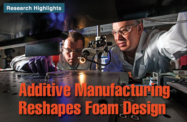 Article title: Additive Manufacturing Reshapes Foam Design