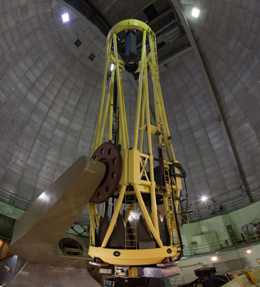 Lick Observatory's 3-meter Shane telescope has been used for testing many new instruments for astronomy research, including the novel adaptive-optics-based laser guide star—developed with help from Livermore scientists. (Photo by Lanie L. Rivera.)