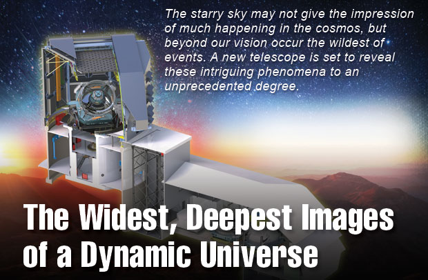 A cutaway view of the Large Synoptic Survey Telescope (LSST) complex. (Image courtesy of LSST Corporation.)